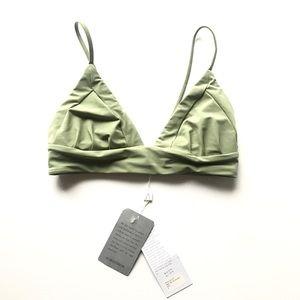 Boys + Arrows Bikini Top Sage Green sz S NWT